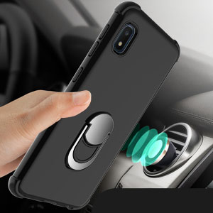 Ring Magnetic Holder Kickstand Shockproof Protective Phone Cover Case for Samsung Galaxy A10e 5.8 inches lovpec Galaxy A10e Case with Soft TPU Screen Protector Black