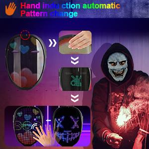 Masks LED Display Automatic Glowing Mas