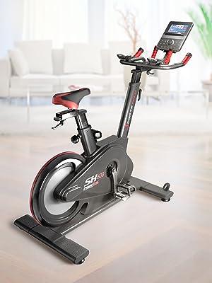 Sportstech Bicicleta de Elite - Eventos en Directo & App Multijugador, Sistema de Freno magnético controlado por Ordenador, Volante de 26KG, Manillar Deportivo - SX600 (SX600_DE): Amazon.es: Deportes y aire libre