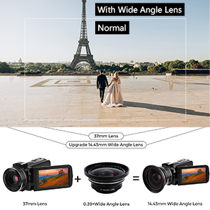 camera with wide angle lens