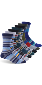 Women's and Men's Merino Wool Lightweight Cushion Athletic Strip Crew Socks