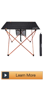 Ultralight Portable Folding Camping Table Compact Roll Up Tables