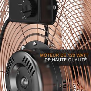 302583 Ventilateur de sol machine à vent  retro cuivre  50 CM