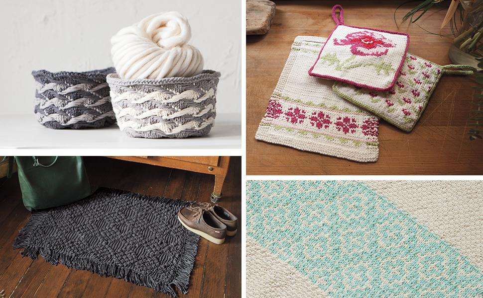 cotton yarn dishcloth placemat kitchen dining basket rug