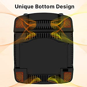 advanced ventilation design cooler more quickly safe consideration rubber bottom to avoid falling