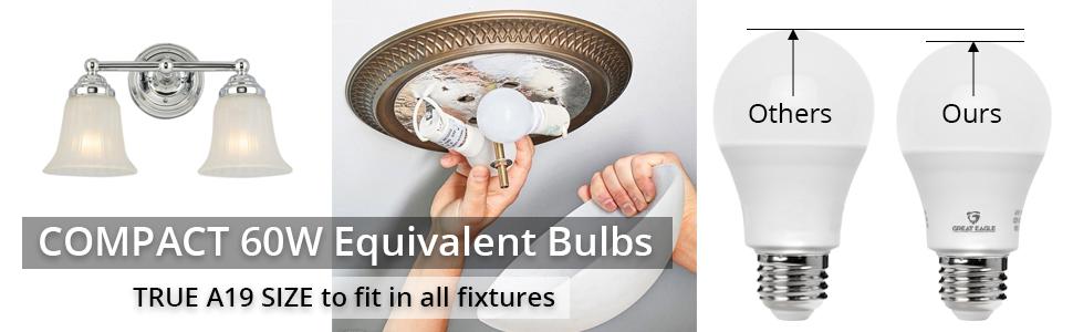 compact led bulbs a19 100w