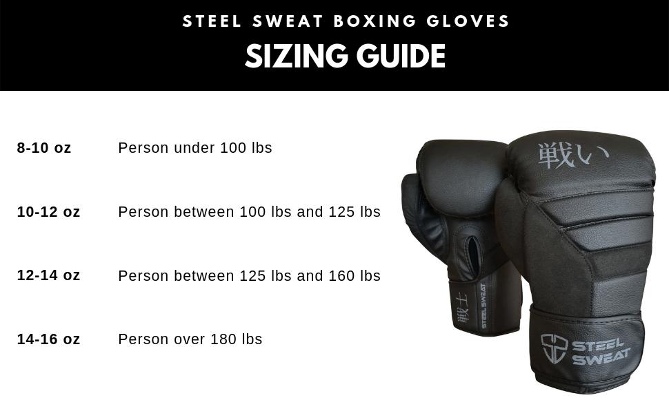 Men /& Women Steel Sweat Boxing Gloves Senshi Black Training Gloves for Punching Sparring Kickboxing and Muay Thai
