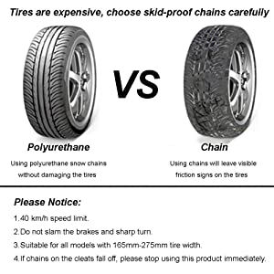 snow tire chains VS mental chains