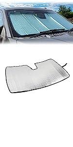 Windshield Sun Shade Foldable Sun Visor Aluminum Foil Sunshade for 2011-2020 Jeep Grand Cherokee
