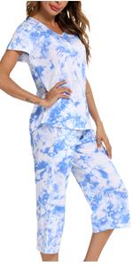 women short sleeve sleepwear set