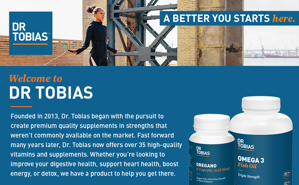 Dr. Tobias, vitamins, supplements, cleanses, fish oil, made in the USA, Dr Tobias