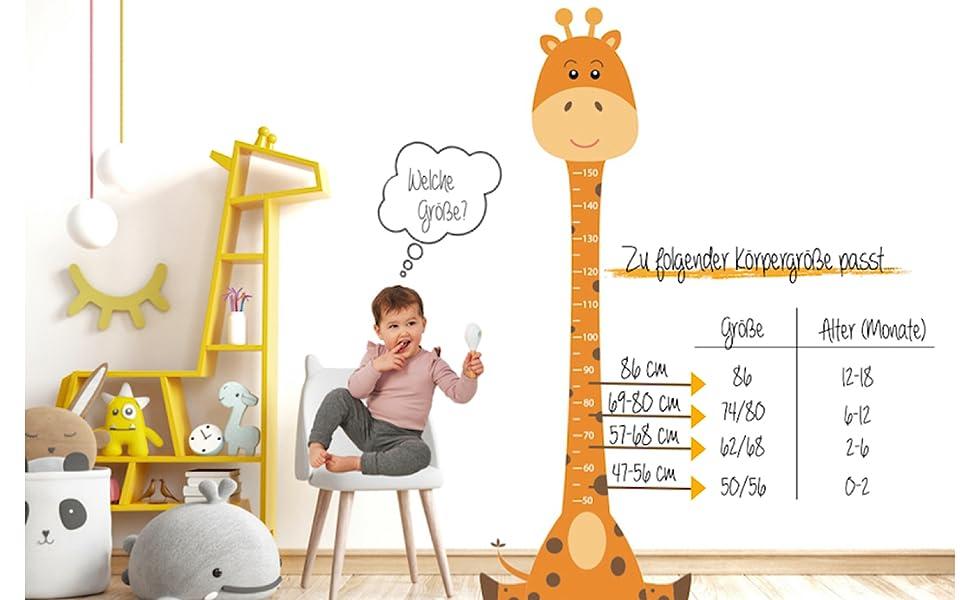Maßtabelle Kindergröße Größe Strumpfhose Size Länge Breite Körpergröße