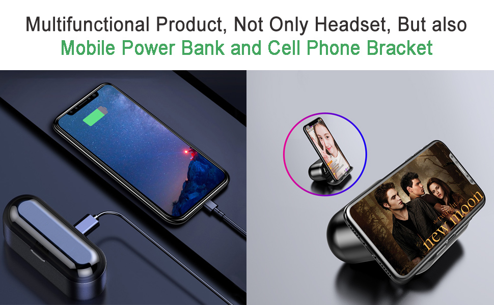 Multifunctional Product, Not Only Headset, But also cell phone bracket and portable charger