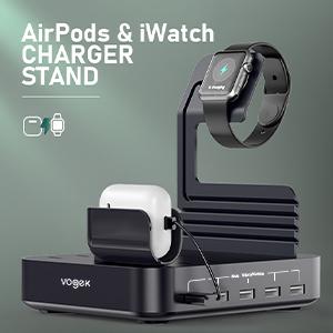 vogek usb charging station black 456