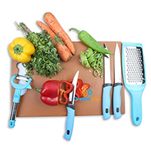knife set peeler greater chopping board plastic stainless steel sharp bled vegetable cutter knives