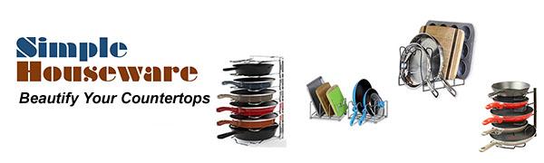 Simple Houseware Cookware Pan Pot Rack Organizers