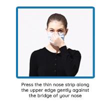 Press nose strip down