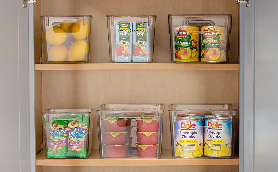 clear pantry fridge bins