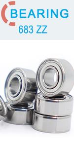 2,5 mm Miniature MR52ZZ roulements /à Billes Bonne qualit/é L-520ZZ W52 Fjiujin 10PCS MR52 ZZ Roulement ABEC-5 2 5