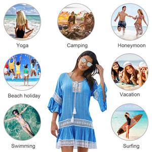 Tuopuda Abito da Spiaggia Donna Mare Boemo Copricostumi da Bagno Costume da Bagno V-Collo Abito Vestito Beachwear