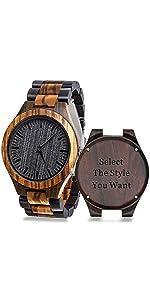 Custom Wooden Engraved Watch