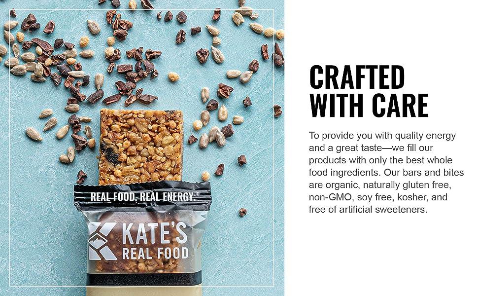 kates real food bar hiking snack energy breakfast granola organic gluten free non gmo natural health