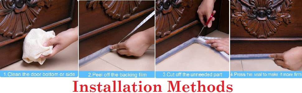 Easy to Use Self-Adhesive Door Seal Strip