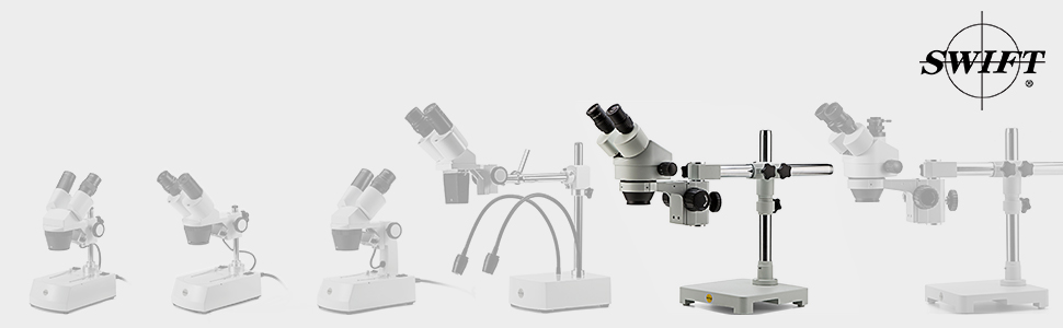 Swift Optical S7 trinocular professional stereo dissection microscope