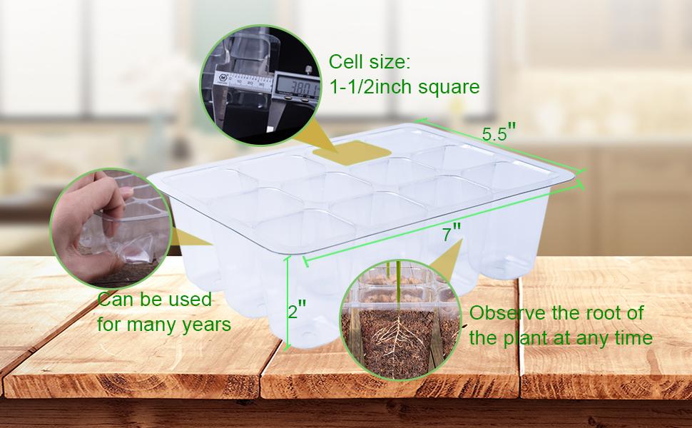 144 Cells Seedling Starter Trays