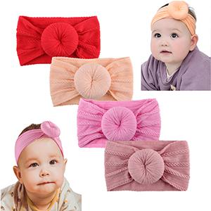 3pcs Nylon Hairband Bow Elastics Newborn Headbands cotton Makone Wide Headband Baby Child Hair Accessories for Girls Newborn Infant Toddlers Kids