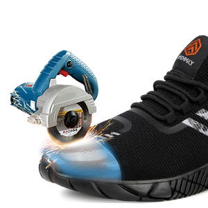Kefuwu Chaussure de Securit/é Homme Femme L/éger Respirant Chaussures de Travail Embout Acier Baskets de S/écurit/é