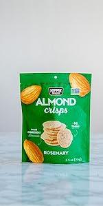 rosemary almond crisps