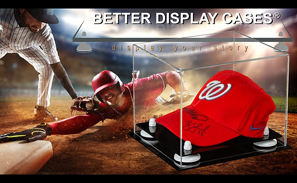 Acrylic Display Case Protect Collectible Sports Memorabilia Baseball hat cap