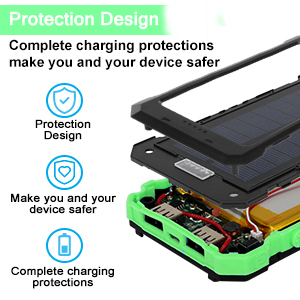 Solar battery pack cell phone charger
