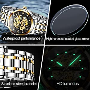 full stainless steel case automatic water proof