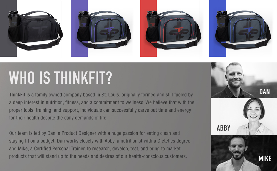 Meal Prep Lunch Bag Colors and ThinkFit Company About Us. Who is ThinkFit?