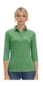 Women's Soft 3/4 Sleeve V Neck Golf Shirt Long Mositure Wicking Performance Sports Polo T Shirt