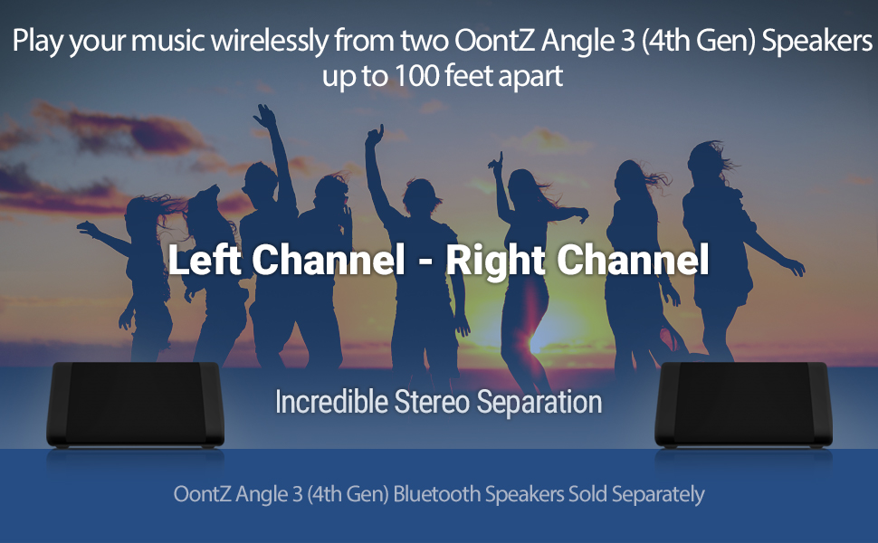 Pump up on the volume even louder when you play your music to two OontZ Angle 3 Speakers together