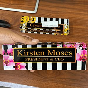 office essentials for women desk sets and accessories for women desk name plate black plate