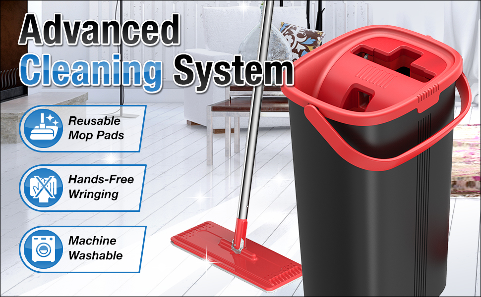 Tethys Advanced Cleaning System Mop and Bucket