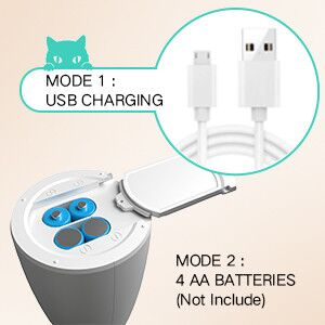 Available USB Charging & Battery-Operated