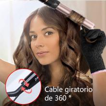 5 en 1 rizador de pelo con varillas profesional, cuenta con 5 cabezales de cerámica turmalina intercambiables, función de apagado automático y ...