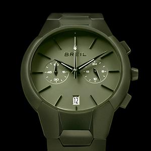 orologio uomo;cronografo;green;new one;acciaio;chrono;breil