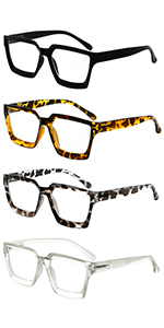 4 Pairs Reading Glasses Women Men