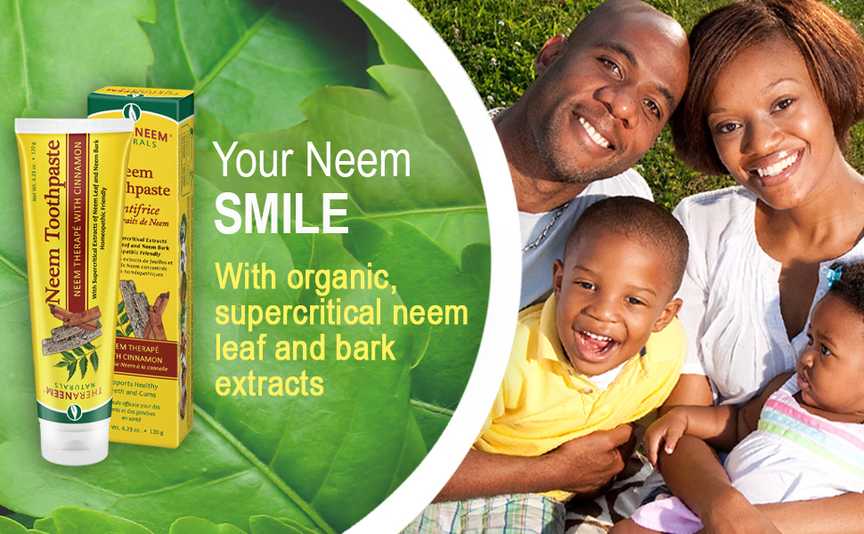 TheraNeem Neem Toothpaste Cinnamon Supports Healthy Teeth Gums Mouth Fluoride Free Vegan 4.23 oz