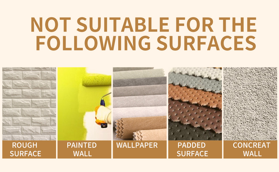 NOT Applicable Surfaces