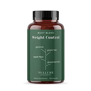 Nullure Ayuda para Adelgazar Natural | Controlar el Peso, Mejorar la Digestión y Regular el Apetito - Garcinia Cambogia + Té Verde + Glucomanano + ...