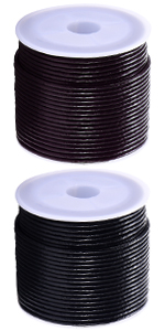 DonDon Fil de cuir marron Rouleau de 20 m/ètres DIY 1,5 mm