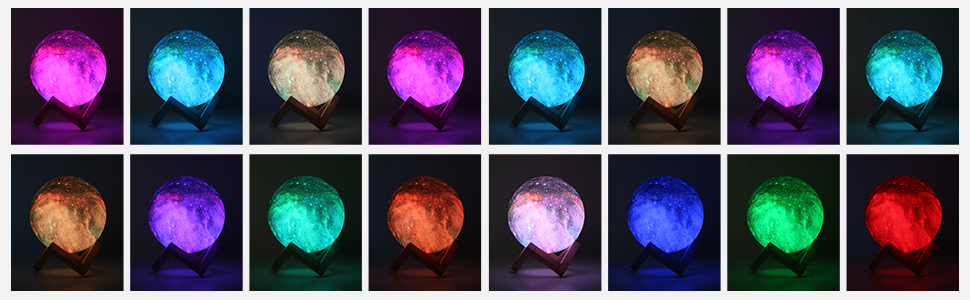3d star moon lamp