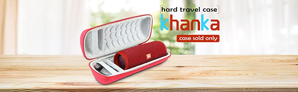 Khanka Hard Travel Case Replacement for JBL FLIP5 Flip 5 Waterproof Portable Bluetooth Speaker Red